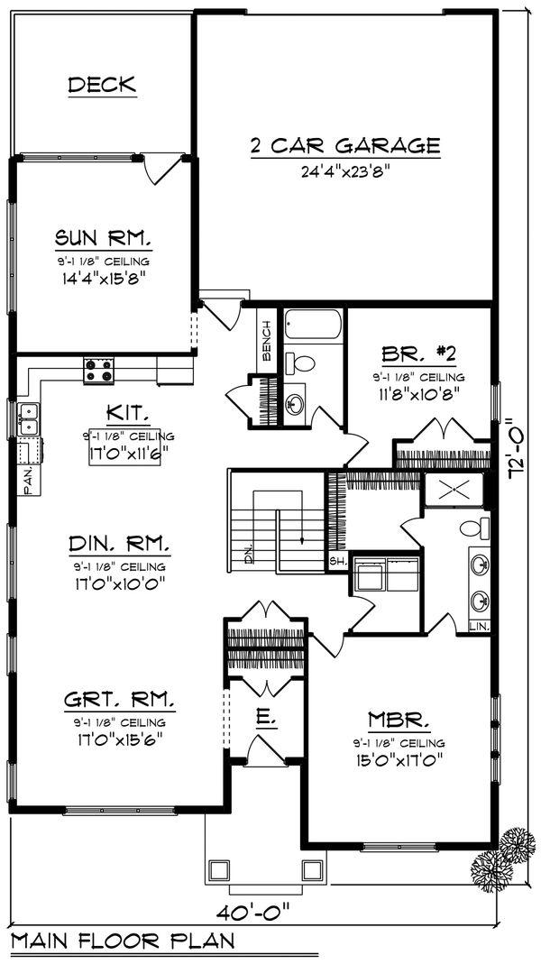 House Plan Design - Cottage Floor Plan - Main Floor Plan #70-1460
