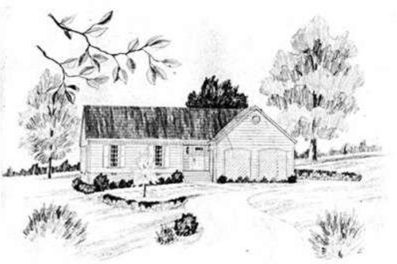 Ranch Exterior - Front Elevation Plan #36-401 - Houseplans.com