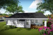 Contemporary Style House Plan - 3 Beds 2 Baths 1501 Sq/Ft Plan #70-1490 Exterior - Rear Elevation