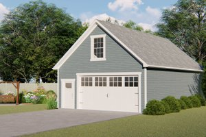 Country Exterior - Front Elevation Plan #1064-85