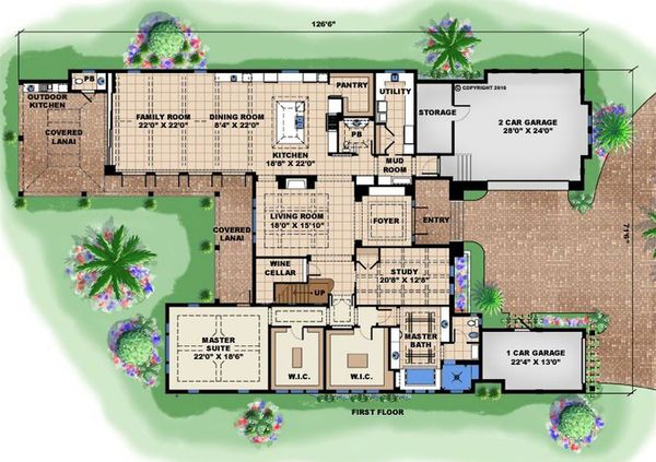 Contemporary Floor Plan - Main Floor Plan Plan #27-532