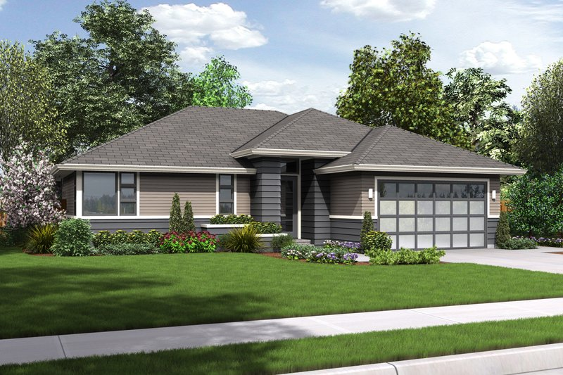 Ranch Exterior - Front Elevation Plan #48-599