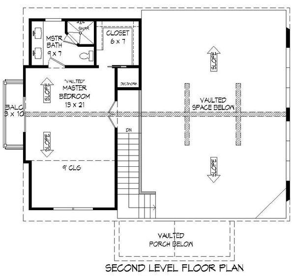Cabin Floor Plan - Upper Floor Plan #932-250