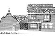 Traditional Style House Plan - 3 Beds 2.5 Baths 1748 Sq/Ft Plan #70-186 Exterior - Rear Elevation