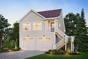 Dream House Plan - Victorian Exterior - Front Elevation Plan #410-3611