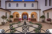 Mediterranean Style House Plan - 4 Beds 5 Baths 6860 Sq/Ft Plan #484-8 Exterior - Covered Porch