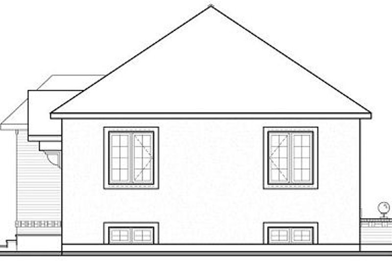 Modern Exterior - Rear Elevation Plan #23-700 - Houseplans.com