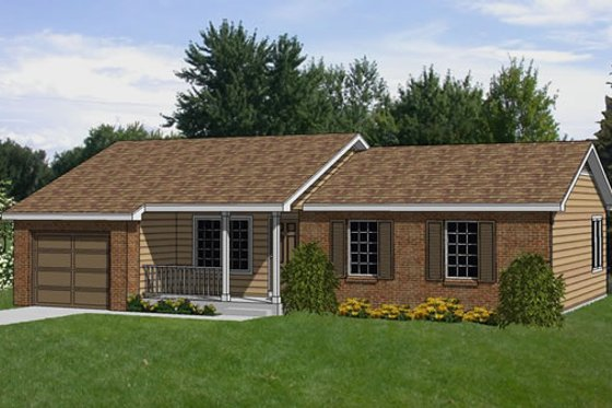 Ranch Exterior - Front Elevation Plan #116-203
