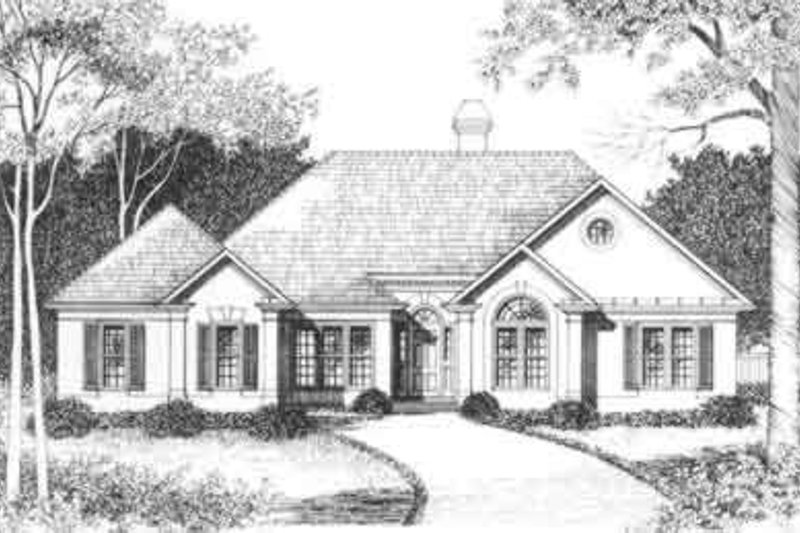 European Exterior - Front Elevation Plan #129-146 - Houseplans.com
