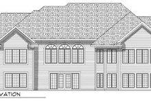 Architectural House Design - European Exterior - Rear Elevation Plan #70-789