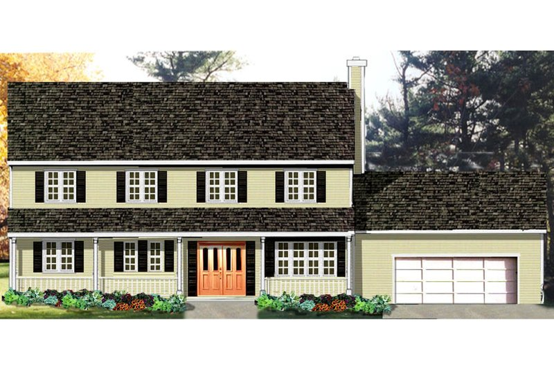 Country Exterior - Front Elevation Plan #3-168