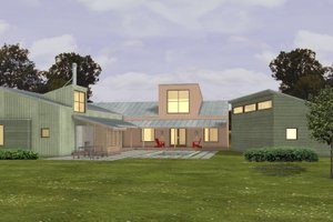 Modern Exterior - Other Elevation Plan #433-2