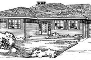 Ranch Exterior - Front Elevation Plan #47-170