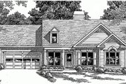 Traditional Style House Plan - 3 Beds 2 Baths 996 Sq/Ft Plan #927-309 Exterior - Front Elevation
