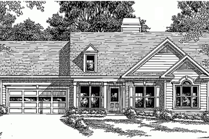 Traditional Exterior - Front Elevation Plan #927-309 - Houseplans.com
