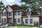 European Style House Plan - 4 Beds 2.5 Baths 2770 Sq/Ft Plan #138-216 Exterior - Front Elevation