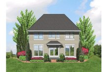 Dream House Plan - European Exterior - Rear Elevation Plan #48-401