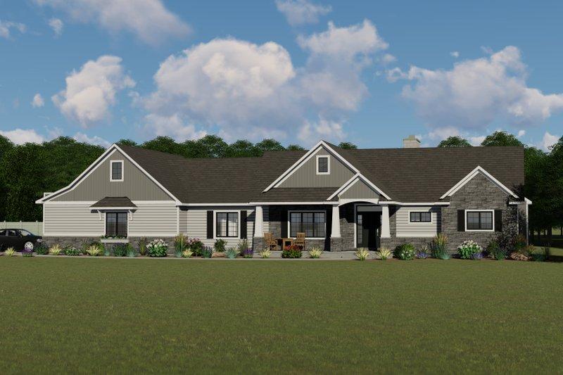 House Plan Design - Craftsman Exterior - Front Elevation Plan #1064-30