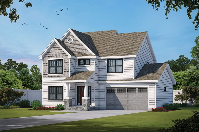 House Plan Design - Craftsman Exterior - Front Elevation Plan #20-2485