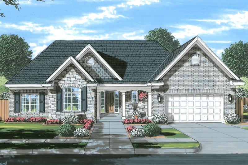 House Plan Design - Ranch Exterior - Front Elevation Plan #46-902
