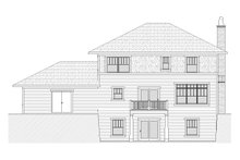 Home Plan - Traditional Exterior - Rear Elevation Plan #901-24