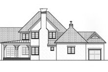 European Exterior - Rear Elevation Plan #413-828