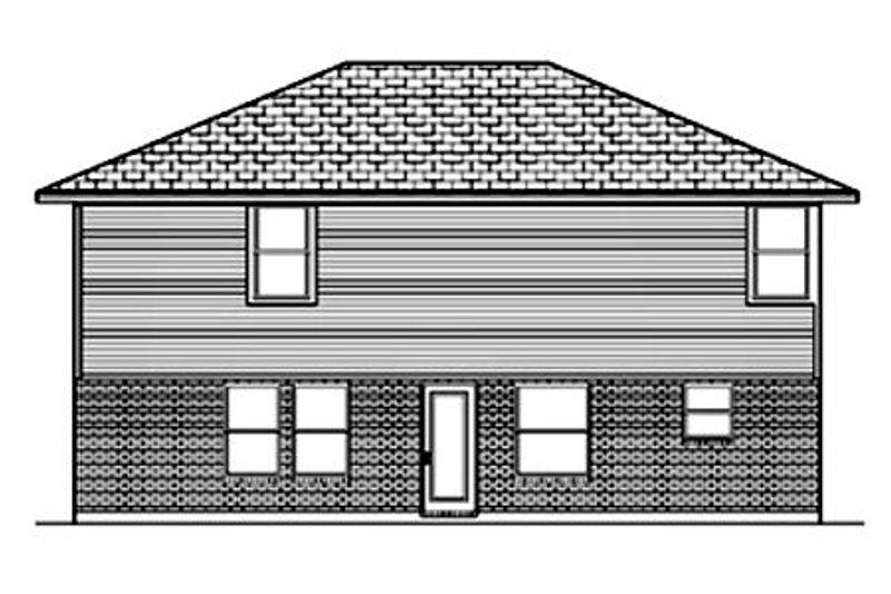 Traditional Exterior - Rear Elevation Plan #84-360 - Houseplans.com