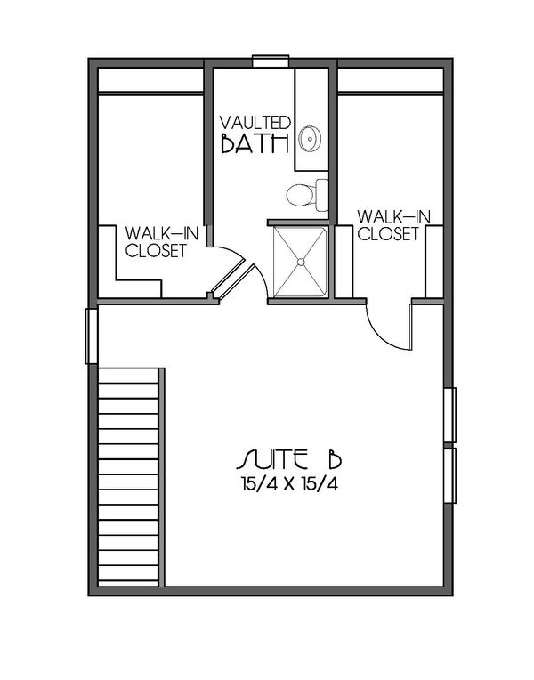 Craftsman Floor Plan - Upper Floor Plan Plan #423-51