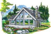 Modern Style House Plan - 3 Beds 2 Baths 1498 Sq/Ft Plan #47-324 Exterior - Front Elevation