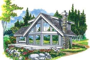 Modern Exterior - Front Elevation Plan #47-324