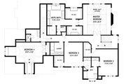 Traditional Style House Plan - 5 Beds 4.5 Baths 4576 Sq/Ft Plan #56-603 Floor Plan - Upper Floor Plan