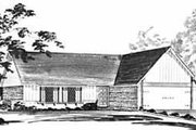 Ranch Style House Plan - 3 Beds 2 Baths 1200 Sq/Ft Plan #36-359 Exterior - Front Elevation