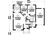 Country Style House Plan - 2 Beds 1 Baths 1101 Sq/Ft Plan #25-4639 Floor Plan - Main Floor Plan