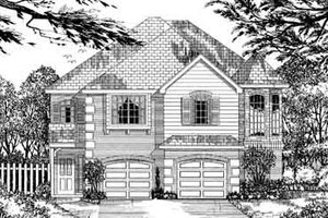 European Exterior - Front Elevation Plan #62-136