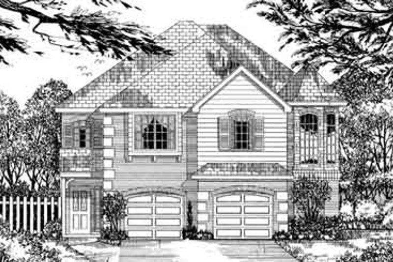 European Style House Plan - 4 Beds 2.5 Baths 2735 Sq/Ft Plan #62-136