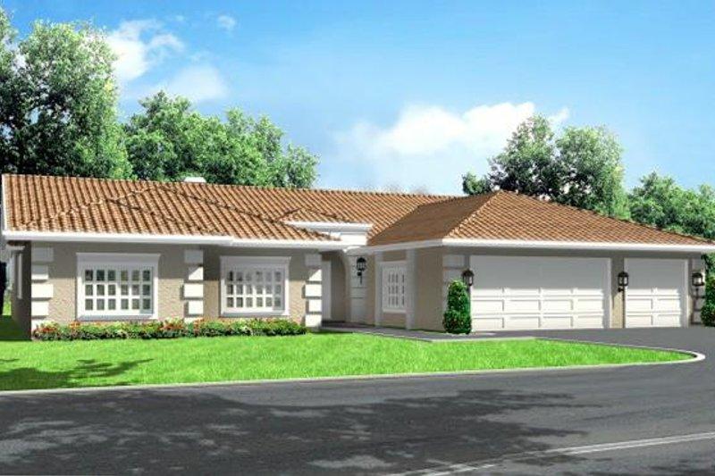 Adobe / Southwestern Style House Plan - 4 Beds 2.5 Baths 2555 Sq/Ft Plan #1-606