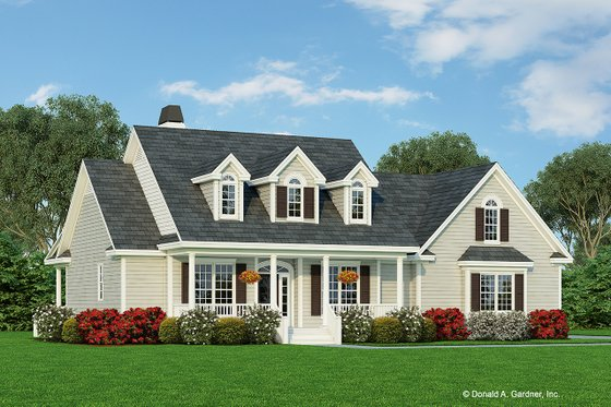 House Blueprint - Country Exterior - Front Elevation Plan #929-885