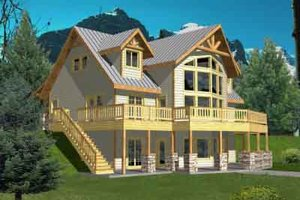 Home Plan - Modern Exterior - Front Elevation Plan #117-458