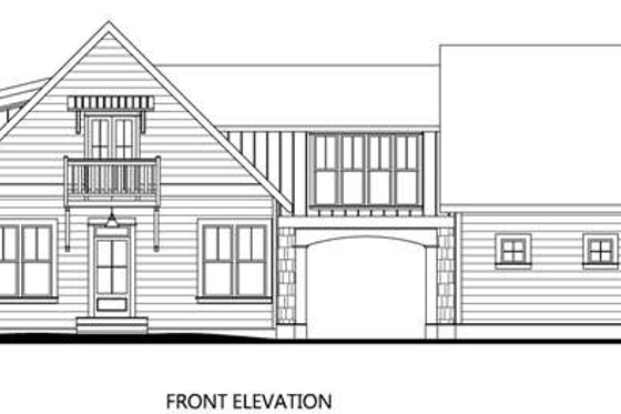 Cottage Exterior - Front Elevation Plan #133-110