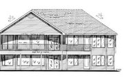 Cottage Style House Plan - 3 Beds 2 Baths 2023 Sq/Ft Plan #18-315 Exterior - Rear Elevation