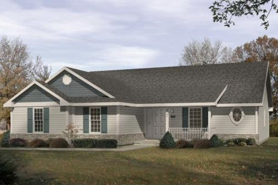 Traditional Exterior - Front Elevation Plan #22-105