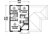 Contemporary Style House Plan - 3 Beds 1 Baths 1680 Sq/Ft Plan #25-4545 Floor Plan - Upper Floor Plan