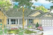 Traditional Style House Plan - 3 Beds 2 Baths 1802 Sq/Ft Plan #124-738 Exterior - Front Elevation