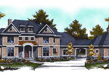European Exterior - Front Elevation Plan #70-887
