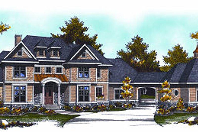 Architectural House Design - European Exterior - Front Elevation Plan #70-887