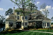 Traditional Style House Plan - 5 Beds 5.5 Baths 7017 Sq/Ft Plan #453-48 Exterior - Front Elevation