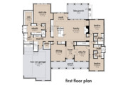 Farmhouse Style House Plan - 4 Beds 2 Baths 2459 Sq/Ft Plan #120-265 Floor Plan - Main Floor Plan