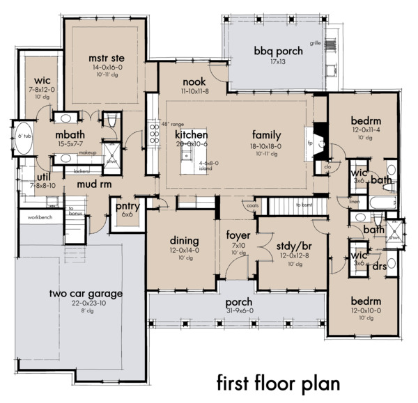 Architectural House Design - Farmhouse Floor Plan - Main Floor Plan #120-265