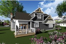 Craftsman Exterior - Rear Elevation Plan #70-1280