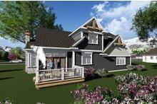 Dream House Plan - Craftsman Exterior - Rear Elevation Plan #70-1280